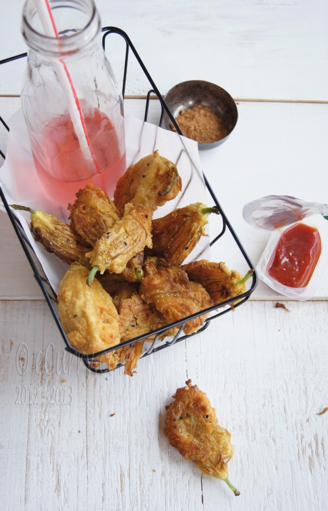 Chickpea and Poppy Seed Batter Fried Squash Blossom | eCurry - The ...