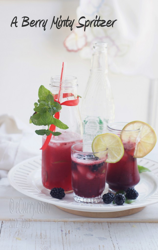 Berry Minty Spritzer | eCurry - The Recipe Blog