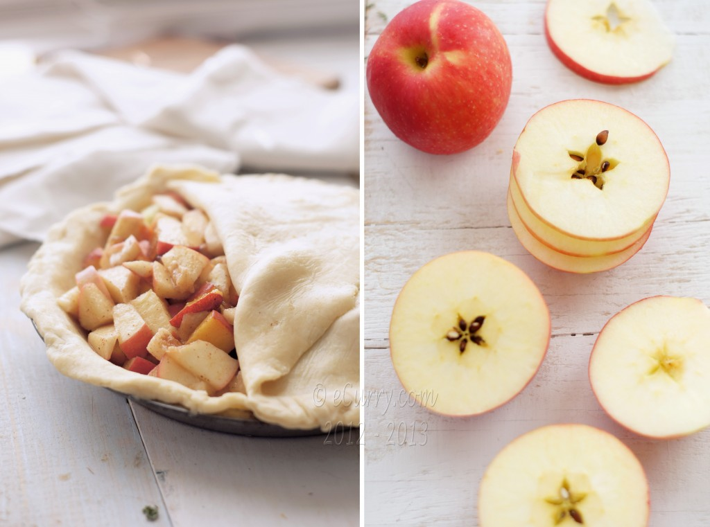 making an apple pie diptych 1