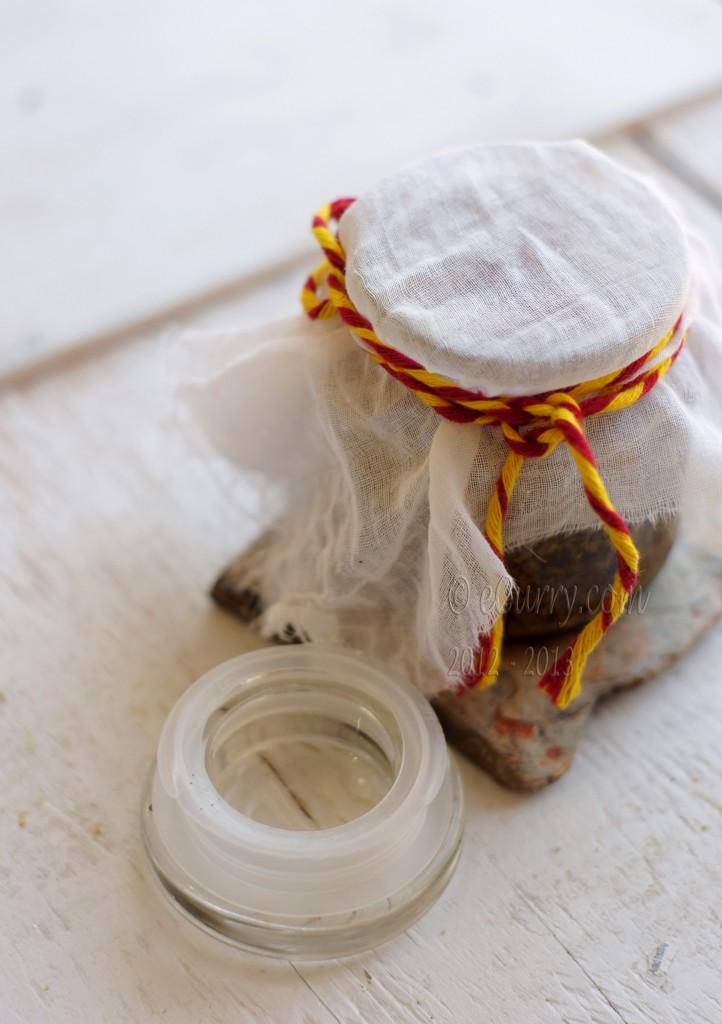 Laal-Mirch-Ka-Aachar pickle maturing in the sun