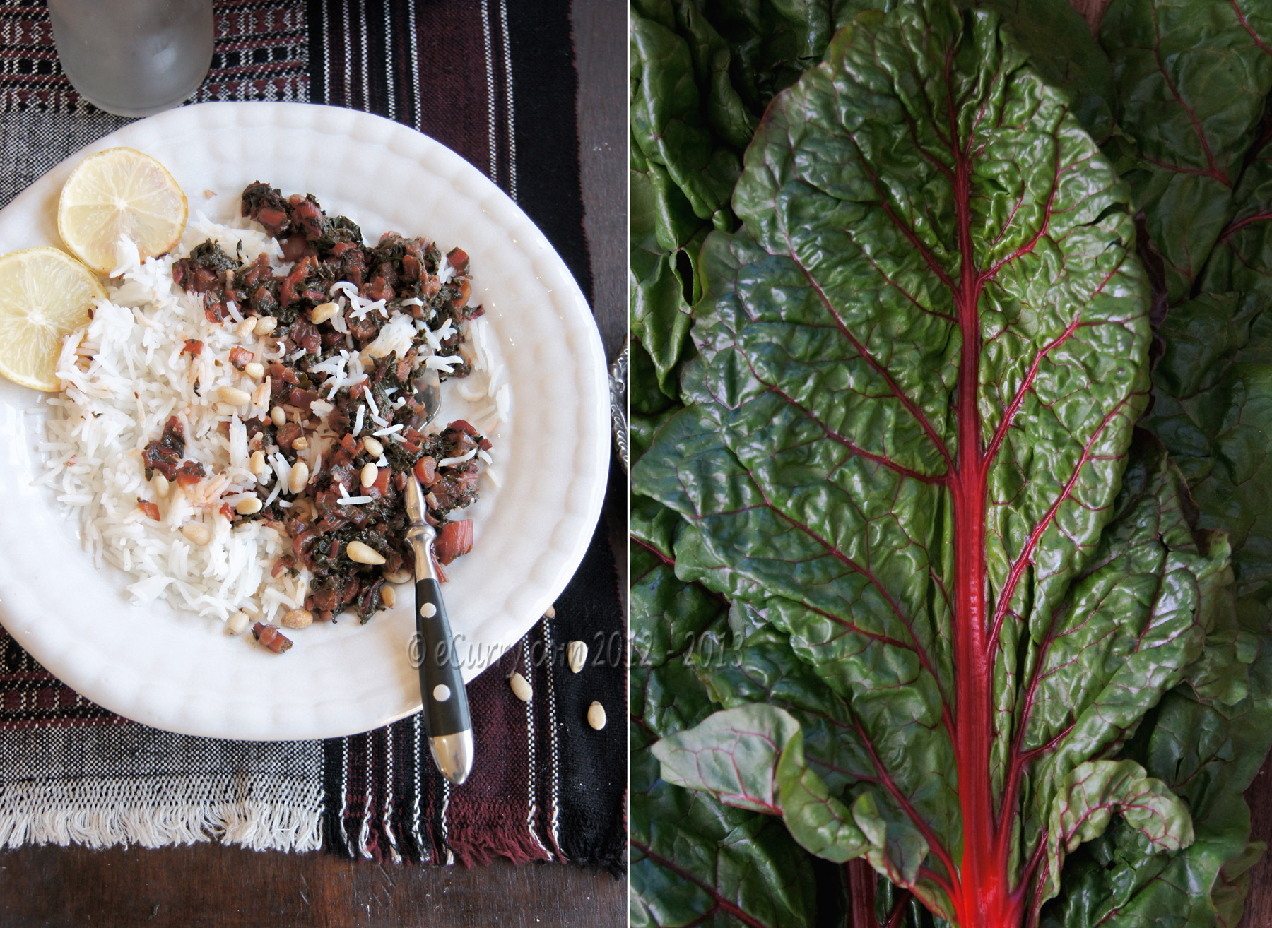 Red Chard recipe diptych 1