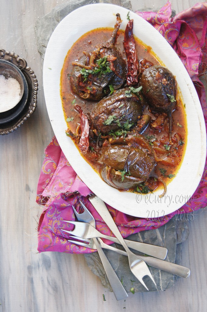 Achari Baingan: Eggplant with Pickling Spices