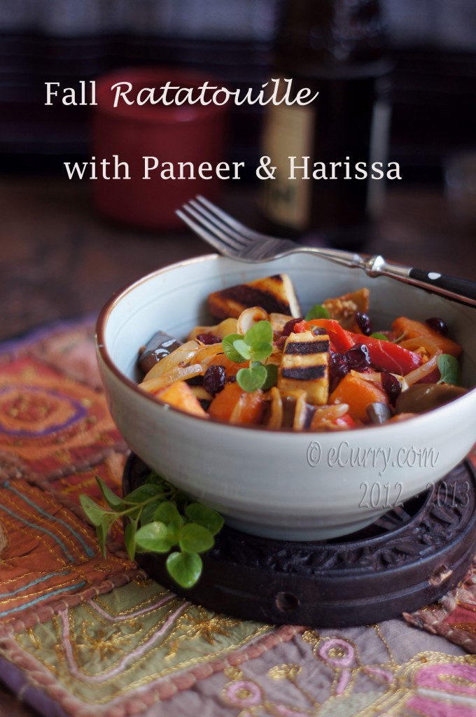 Fall Ratatouille with Paneer and Harissa | eCurry - The Recipe Blog