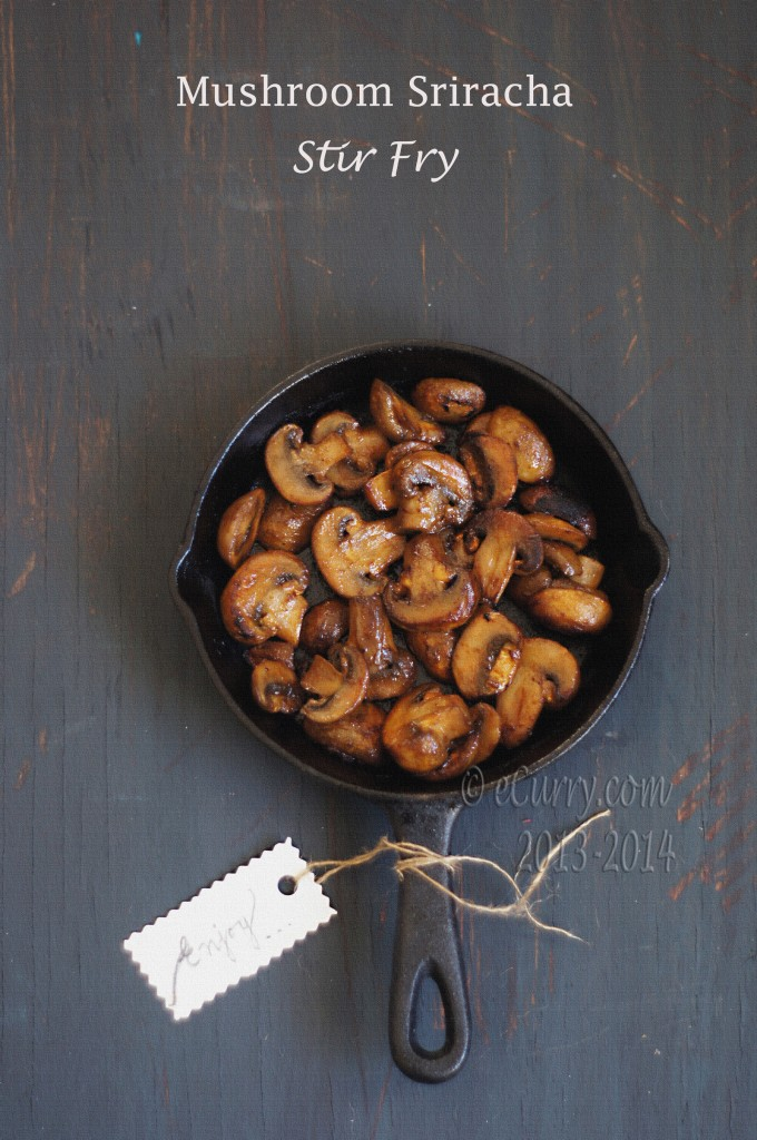 Mushroom Sriracha Stir Fry | eCurry - The Recipe Blog