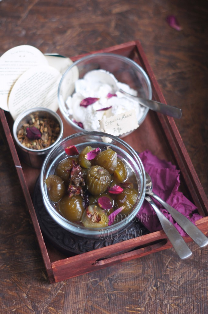 Preserved Figs with Spices and Rose Petals | eCurry - The Recipe Blog