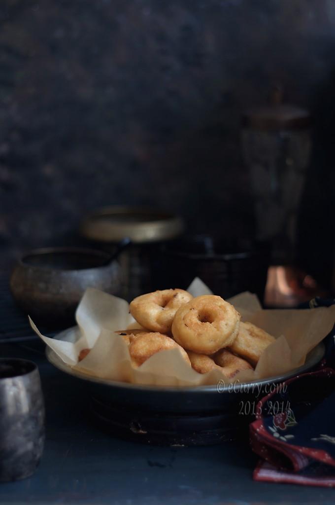 medu-vada- savory lentil fritters