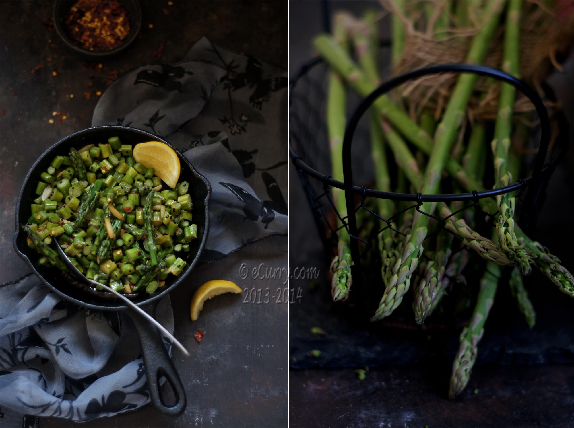 Asparagus Stir Fry Diptych 1