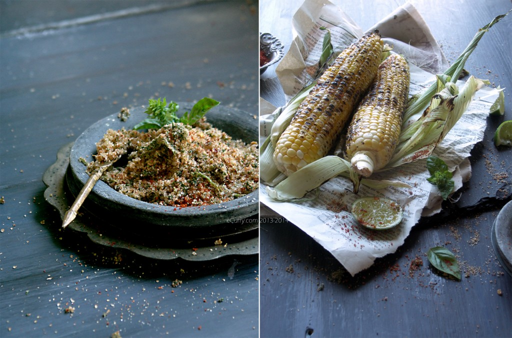 Grilled Corn with Chili Basil Salt Diptych 2