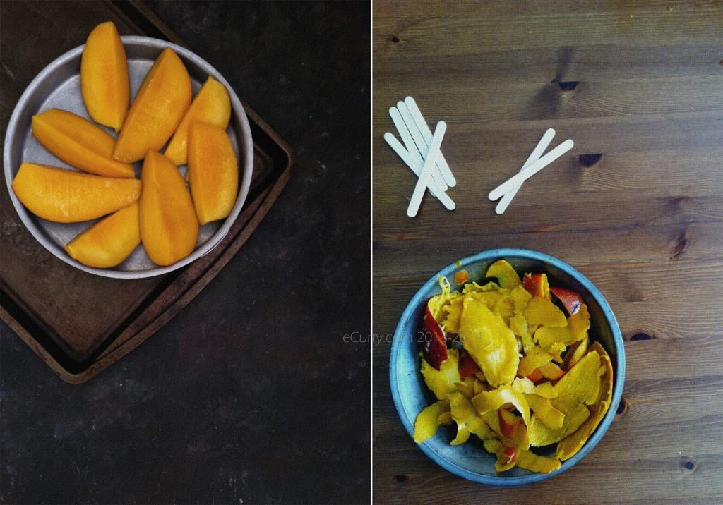 Mango Sorbet Diptych 1