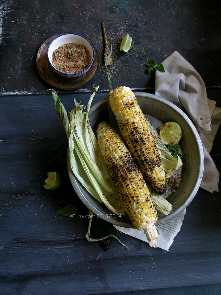 Grilled Corn with Lime and Chili, Basil Salt 16
