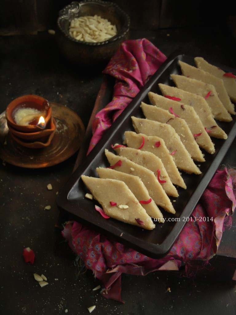 Badam Katli/Almond Fudge | eCurry - The Recipe Blog