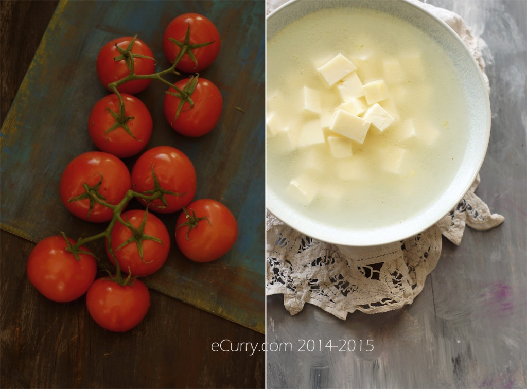 Paneer and Tomato Diptych_eCurry 1