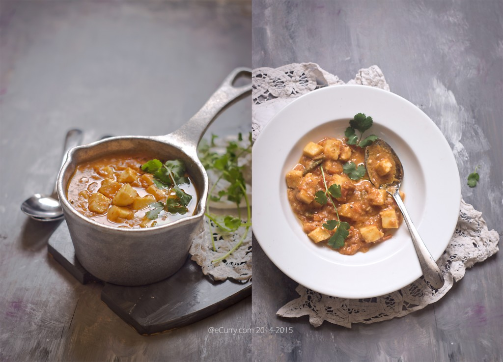 Paneer in Fennel Flavored Tomato Sauce_eCurry Diptych 1