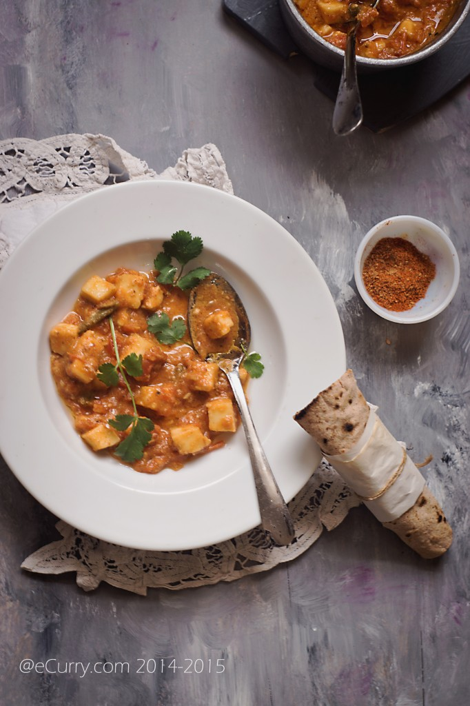 Paneer in Fennel Tomato Sauce 12