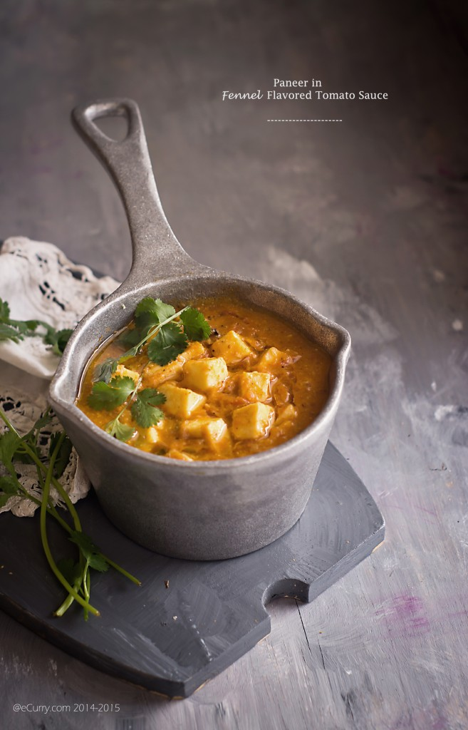Paneer in Fennel Tomato Sauce 2