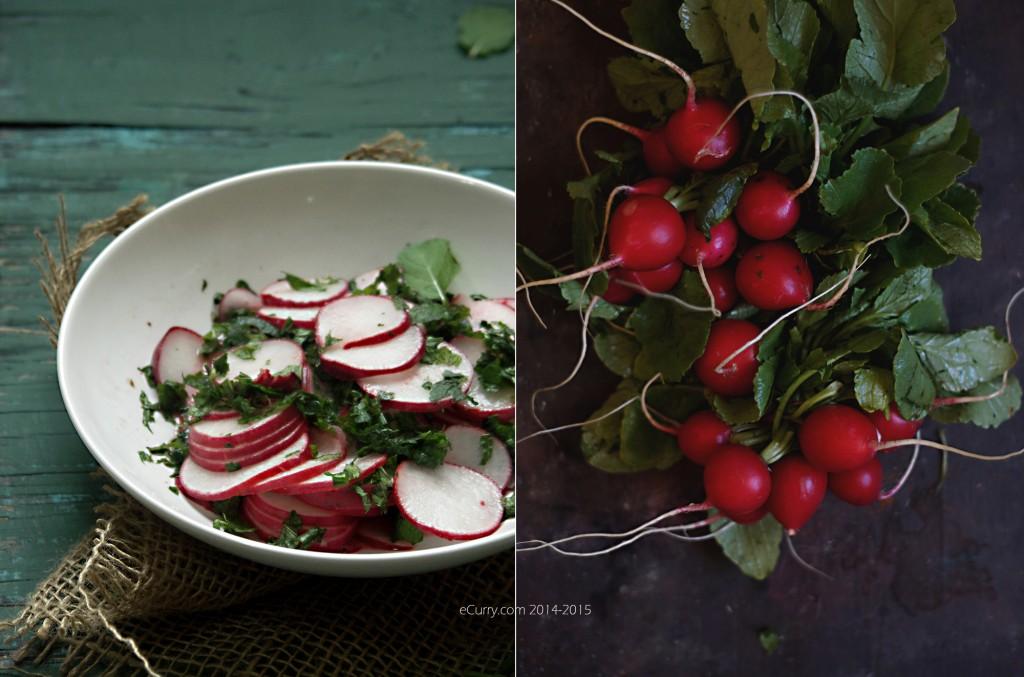 Radish Mint Salad Diptych 1