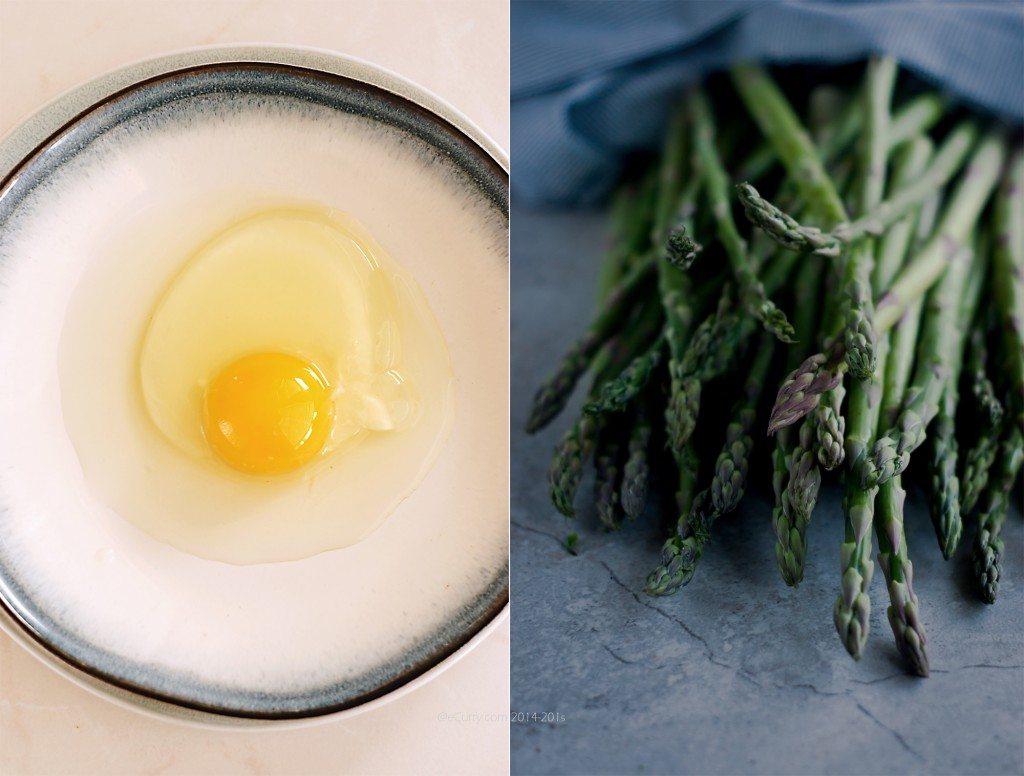 Asparagus and Egg Diptych 1