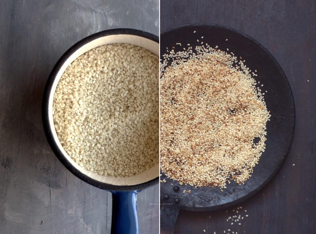 Sesame Seeds Diptych 1