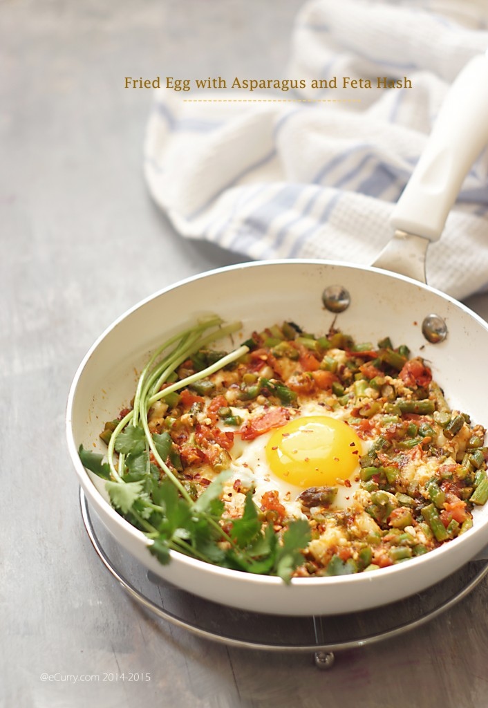 Skillet Egg with Asparagus Hash 8
