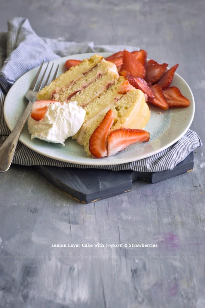 Strawberry lemon layer cake 7