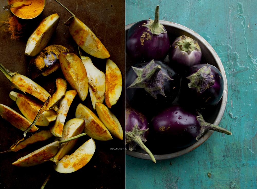 Eggplant Diptych
