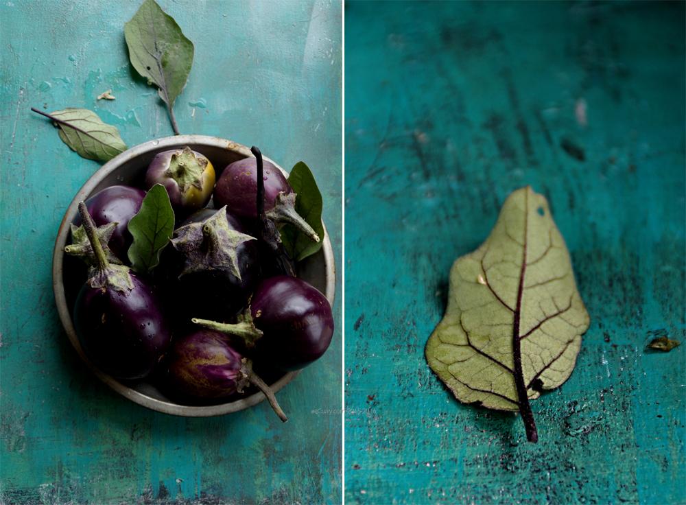 Eggplant _Leaf Diptych