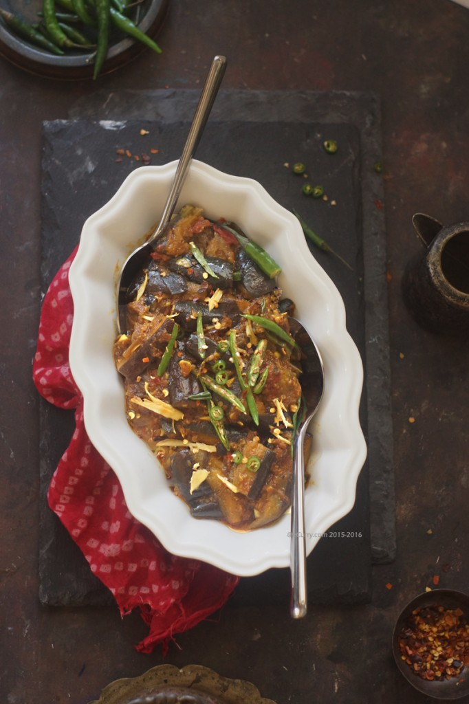 Lehsuni Baingan: Eggplants cooked in Spicy Garlic Sauce | eCurry - The ...